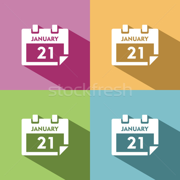 Calendar icon with shade on colored background Stock photo © Imaagio