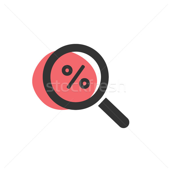 Magnifying glass looking for a discount isolated web icon Stock photo © Imaagio