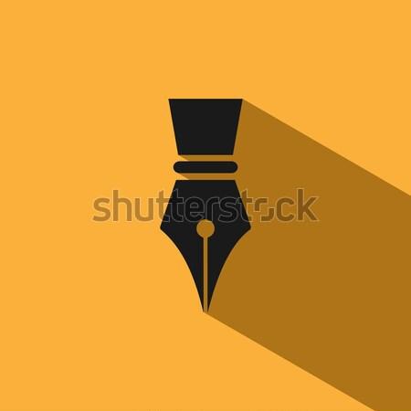 Füller Symbol weiß Business Schule Bildung Stock foto © Imaagio