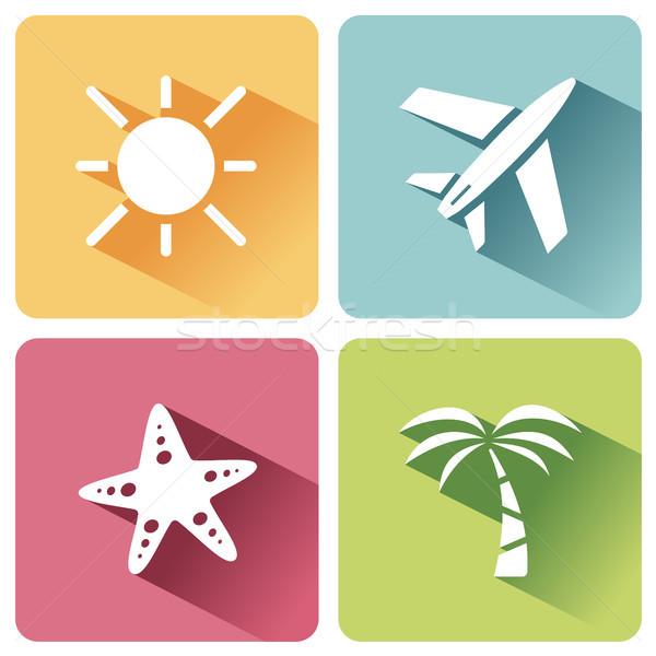 Quatre été tourisme ombre deuxième Photo stock © Imaagio