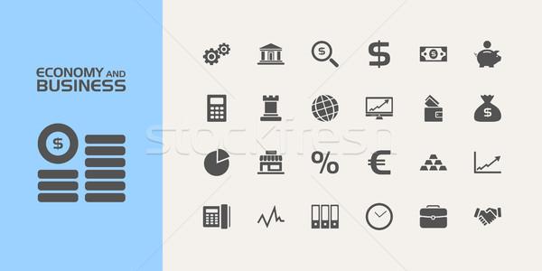 группа двадцать экономики бизнеса иконки дизайна Сток-фото © Imaagio