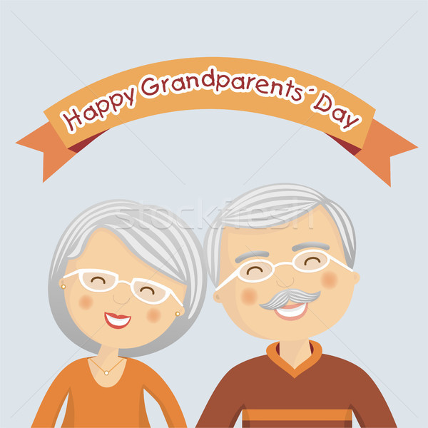 Happy grandparents day with grey hair Stock photo © Imaagio