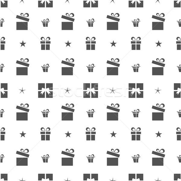 Рождества подарки звезды белый бумаги Сток-фото © Imaagio