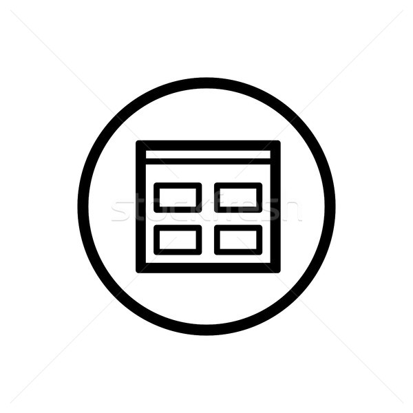 Catalogue line icon in a circle and a white background Stock photo © Imaagio