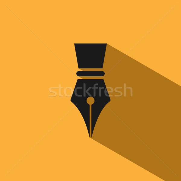 Vulpen icon schaduw Geel business school Stockfoto © Imaagio