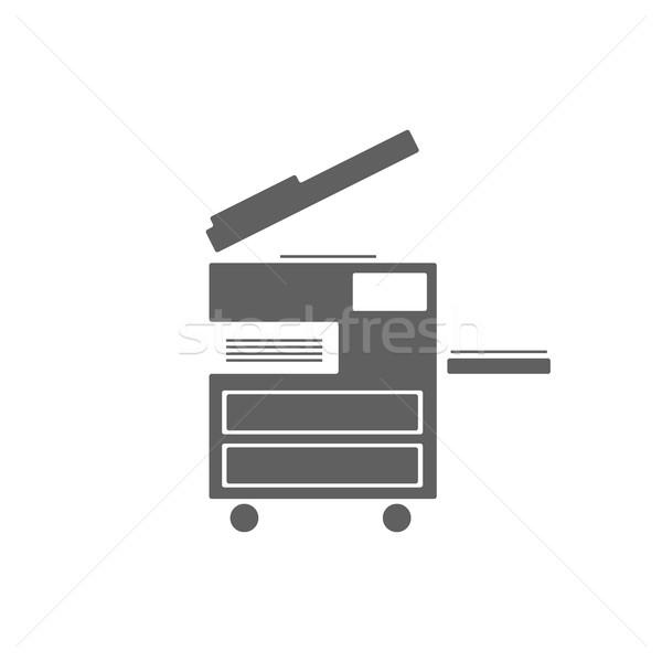Fénymásoló ikon fehér iroda terv digitális Stock fotó © Imaagio