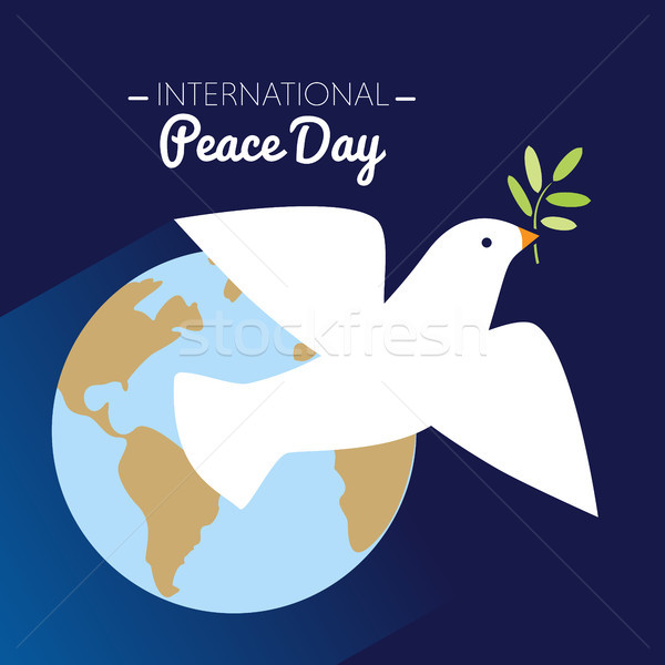 Internationaux paix jour colombe battant olive Photo stock © Imaagio