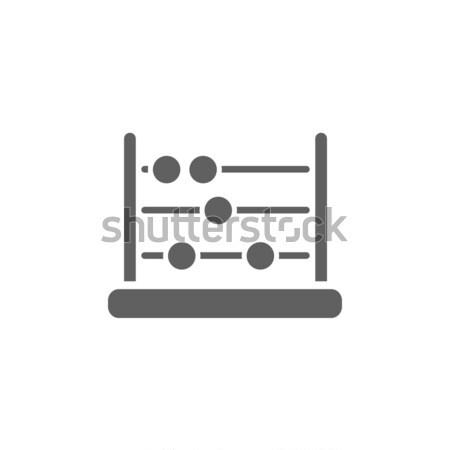 ábaco ícone sombra azul educação financiar Foto stock © Imaagio