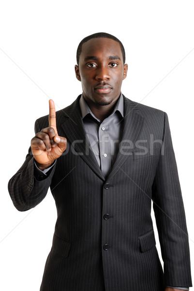 Iş adamı bir parmak görüntü Stok fotoğraf © Imabase