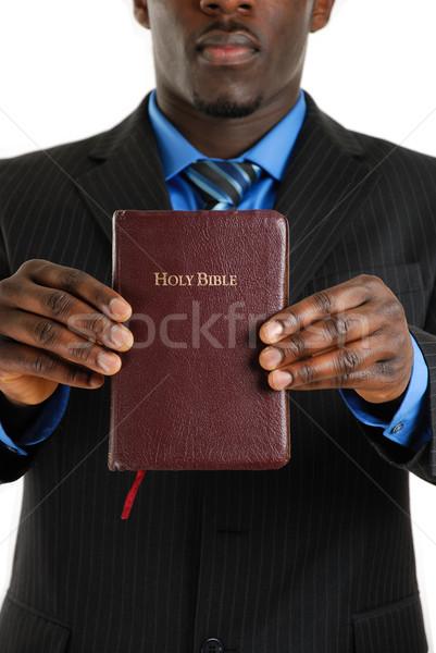 Homem de negócios bíblia imagem preto Foto stock © Imabase