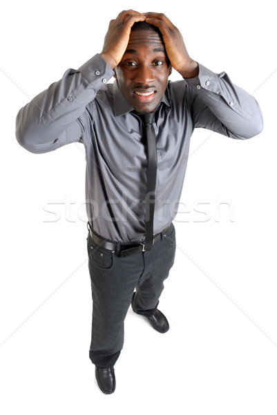 Businesss man with hands on his head due to failure Stock photo © Imabase