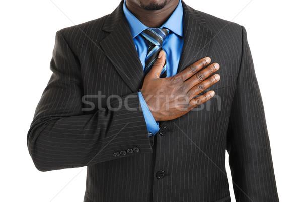 Zakenman afbeelding hand business man zwarte Stockfoto © Imabase