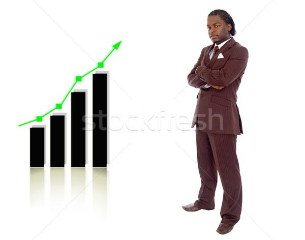 Grande imagem negócio em pé gráfico Foto stock © Imabase