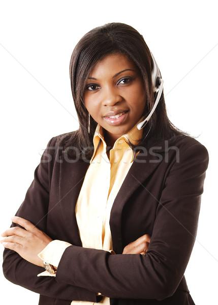Bom comunicação imagem feminino chamar operador Foto stock © Imabase