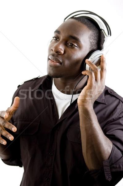 Magnifique musique image étudiant garçon noir Photo stock © Imabase