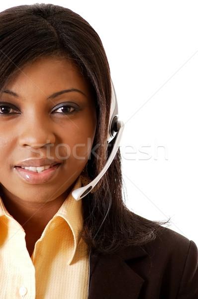 Servicio primer plano imagen femenino llamada operador Foto stock © Imabase