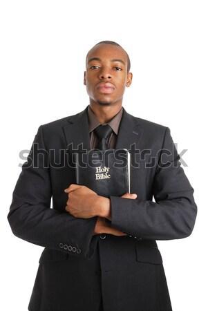 Homem de negócios indicação imagem negócio homem preto Foto stock © Imabase