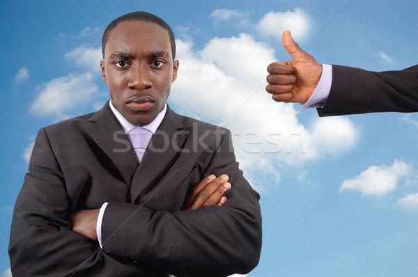 Ira gestión imagen enojado empresario Foto stock © Imabase