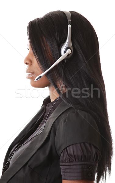 Imagem feminino chamar operador lata usado Foto stock © Imabase
