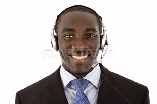 Iletişim uzman görüntü adam mikrofon kulaklık Stok fotoğraf © Imabase