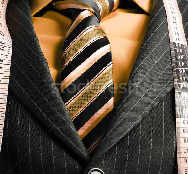 Iş adamı şerit metre görüntü takım elbise adam Stok fotoğraf © Imabase