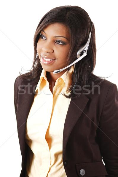 Dostça operatör görüntü kadın çağrı Stok fotoğraf © Imabase