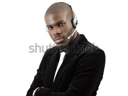 Excelente serviço imagem homem microfone fone Foto stock © Imabase