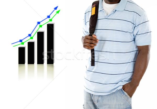 Sucesso imagem estudante saco gráfico Foto stock © Imabase