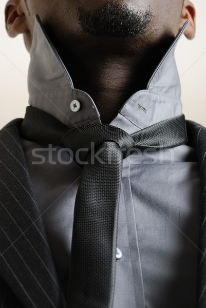 Iş adamı kravat görüntü pansuman yukarı Stok fotoğraf © Imabase