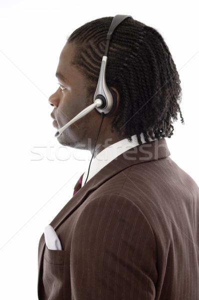 Operador imagem homem microfone fone lata Foto stock © Imabase