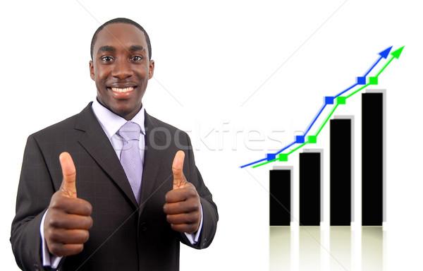 Dobrar sucesso imagem empresário animado Foto stock © Imabase