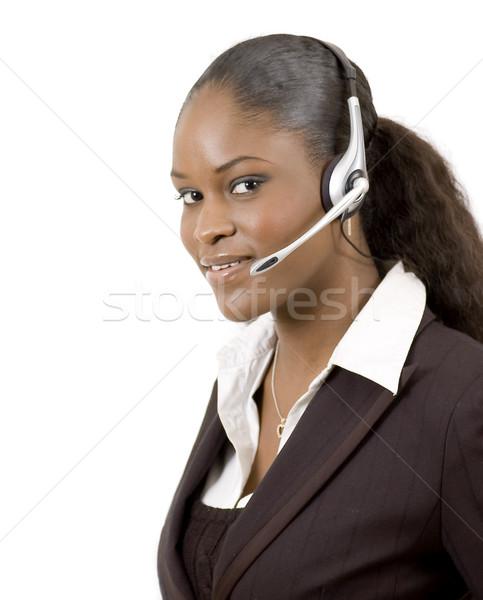 Amigável apoiar imagem feminino chamar Foto stock © Imabase