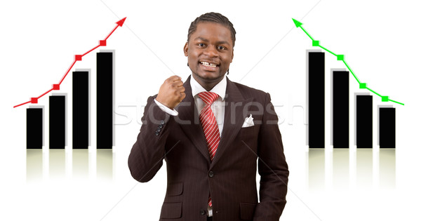 Iyi çift başarı görüntü işadamı heyecanlı Stok fotoğraf © Imabase