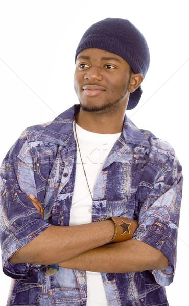 öğrenci görüntü mutlu şapka yüz Stok fotoğraf © Imabase