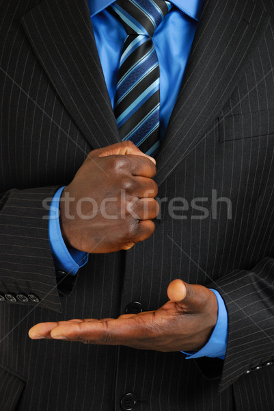 Business man assertive gesture Stock photo © Imabase