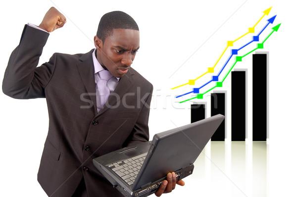 конкурентоспособный невыгодное положение изображение бизнесмен гнева графа Сток-фото © Imabase