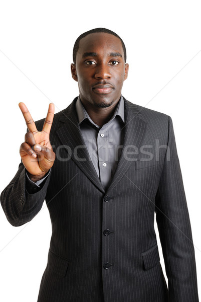 Homem de negócios dois dedos imagem mão Foto stock © Imabase