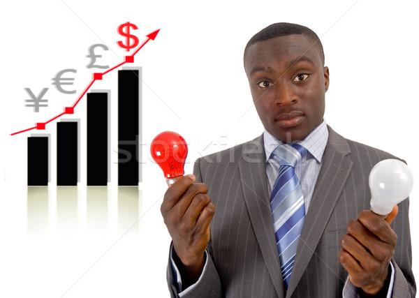 Economia idéias imagem empresário dois Foto stock © Imabase