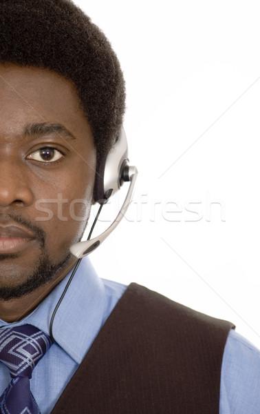 Mély szolgáltatás kép férfi mikrofon headset Stock fotó © Imabase