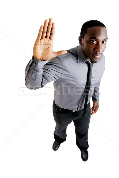 Homem de negócios mão para cima imagem homem empresário Foto stock © Imabase
