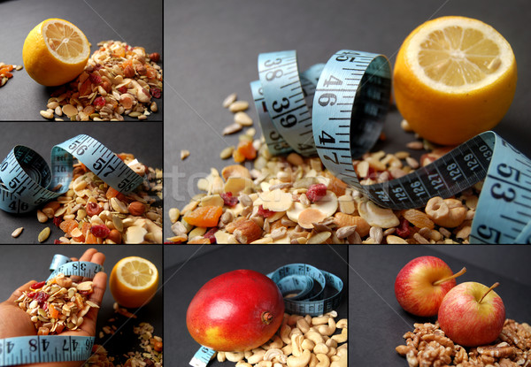 Montage of dieting concepts - Mixture Stock photo © Imabase