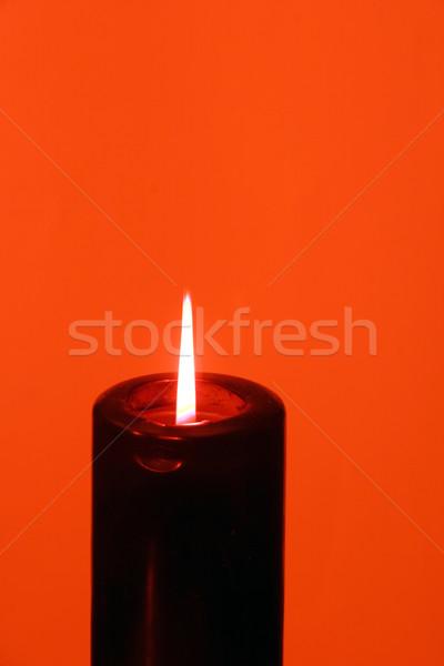 Siyah mum kırmızı arka plan arka plan dinlenmek Stok fotoğraf © Imagecom