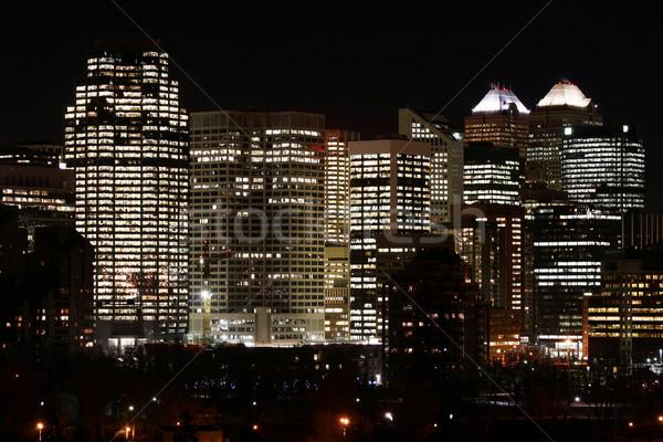 Stad calgary Canada gebouw zomer brug Stockfoto © Imagecom