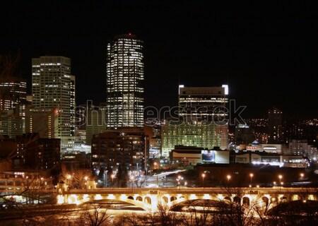 Calgary At Night Stock photo © Imagecom