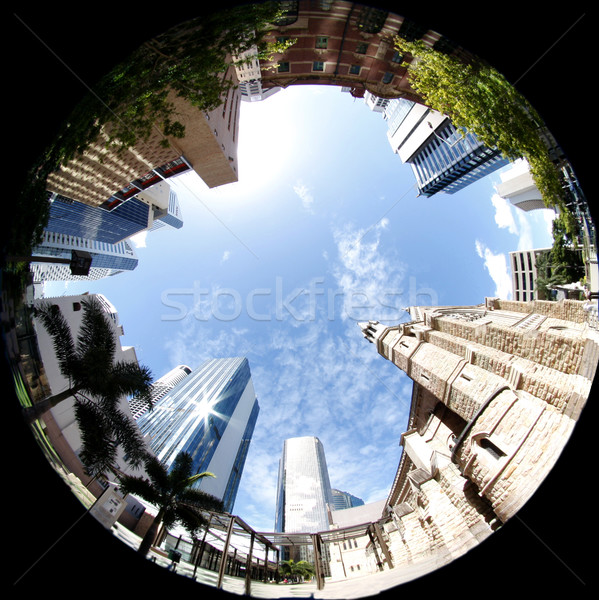 Cidade brisbane arquitetura velho novo arranha-céus Foto stock © Imagecom