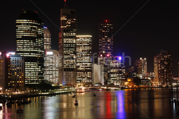 Brisbane gece queensland Avustralya gökyüzü su Stok fotoğraf © Imagecom