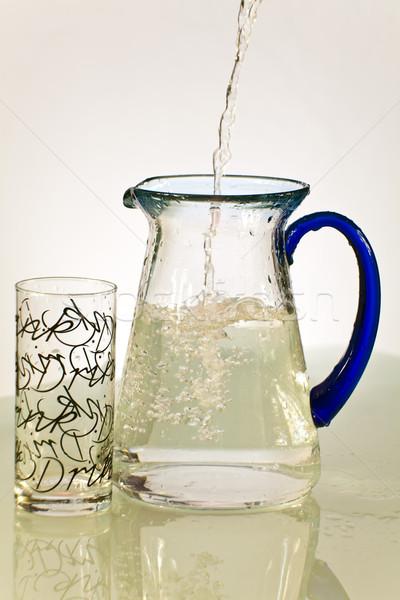 Su cam sürahi gıda mavi içmek Stok fotoğraf © Imagecom
