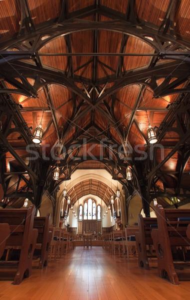 Kilise iç Paskalya Bina duvar pencere Stok fotoğraf © Imagecom