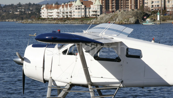 Watervliegtuig stand hemel sport Blauw vliegtuig Stockfoto © Imagecom
