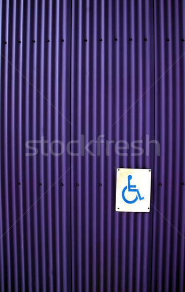 Imzalamak mavi kare handikap tekerlekli sandalye doku Stok fotoğraf © Imagecom
